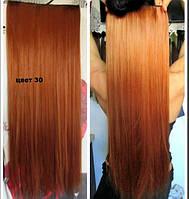 Волосы на заколках цвет  30 медно рыжий