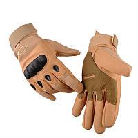 Тактические военные перчатки Oakley закрытие 3 цвета в наличии песочный