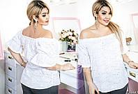 Блузка прямого кроя, с симпатичными рукавами-фонариками, которые сделают из Вас настоящую принцессу.