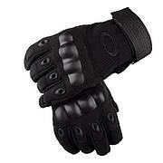 Тактические военные перчатки Oakley закрытие 3 цвета в наличии черный