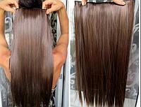 Волосы на заколках цвет  русый с рыжинкой