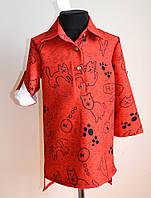 Детская рубашка или кофточка для девочек, подростковая, красная