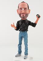 Стив Джобс Apple качественная статуэтка, сувенир, талисман, кукла, игрушка Steve Jobs (оригинал) Киев, фото 1