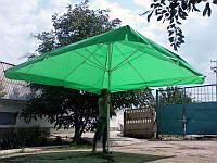 Зонт торговый 3х3 м c клапаном и серебряным напылением синий, зелёный, красный