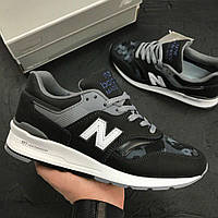 Женские кроссовки New Balance 997 Camo Black. Топ качество. Живое фото (нью бэланс, нью баланс)