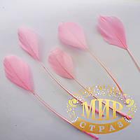 Перья-антенки 15-20см, цвет Светло-розовый*1шт