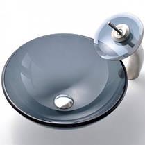 Умывальник стеклянный Kraus GV-104-12mm, фото 2