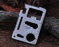 Кредитка мультитул (11 в 1) Нож - кредитная карта, многофункциональная