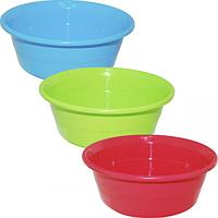Миска пластик 23,5 на 9,5 см /2,3 л, 3 цвета Микс SNT 90844