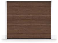 Гаражные секционные ворота RenoMatic light 2017, коричневый