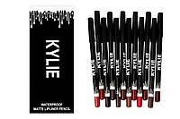 Карандаш для губ Kylie Waterproof Matte Lipliner, 12 штук