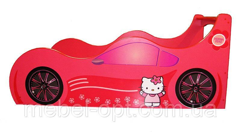 Кровать машина Китти серия Форсаж малинового цвета, для детей и подростков, с бесплатной доставкой в Ваш город