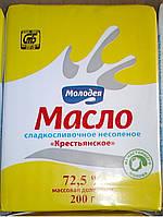 Масло сливочное Воложинское 72,5% Беларусь Молодечненский МКК 200гр