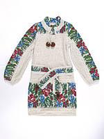 Платье для девочки Маки и васильки с кокеткой