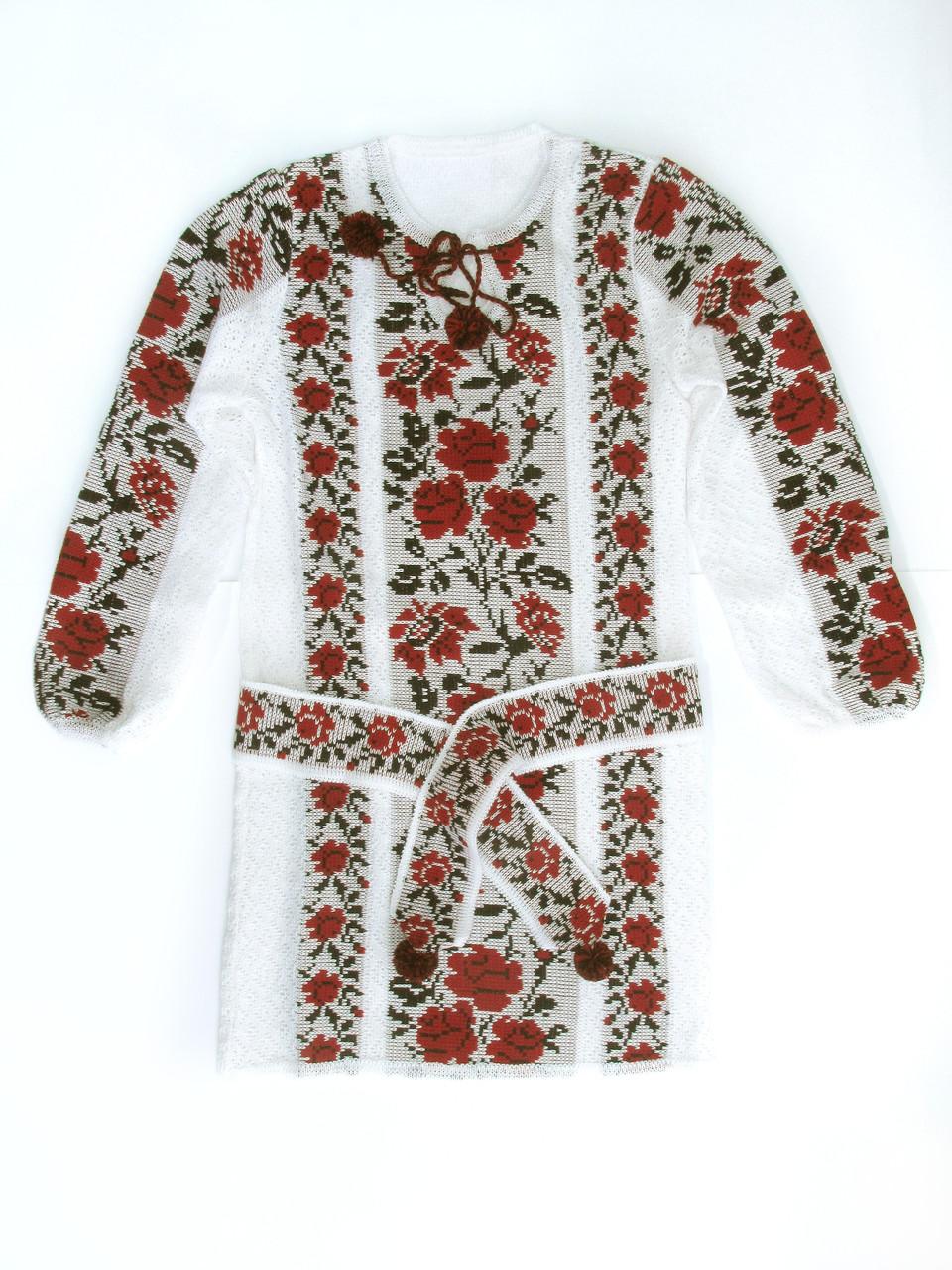 Платье для девочки Розы красные (х/б)