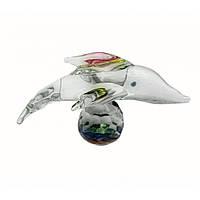 Фигурка хрустальная Дельфин на шаре 6*4*4см