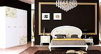 Спальня Пиония глянец белый/золото