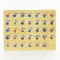 """Деревянная игра """"Рамка-вкладыш с буквами"""" 0342 (40) в кульке"""