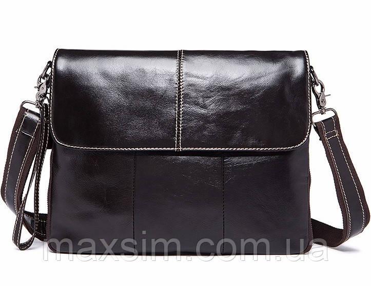 4f3176b05001 Стильная мужская кожаная сумка-почтальйонка на ремне WESTAL из натуральной  кожи -