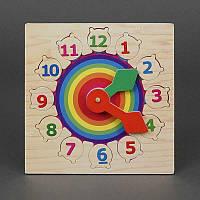 """Деревянная игра """"Часы - радуга"""" 779-606 (96) в кульке"""