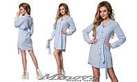 Женское платье рубашка стрейчевая ликра размеры:42, 44, 46, 48