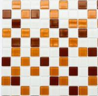 Мозаика облицовочная Лео керамика желто-белая