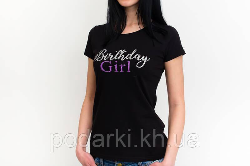 Приталенная женская футболка с нанесением