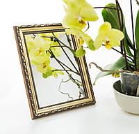 Зеркало в багете, зеркала настольные, зеркала настенные, зеркало с подставкой, 3422-3, фото 1