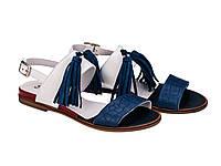 Босоножки Etor 5959-10400-0367 сине-белые, фото 1