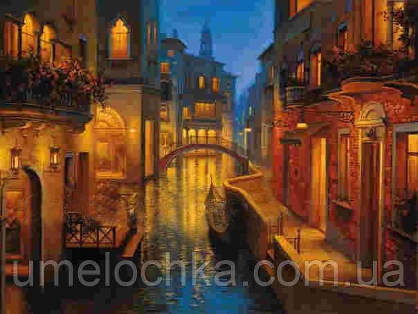 Набор для творчества со стразами  НА ПОДРАМНИКЕ Вечер в Венеции, Артикул: 198706, Размер: 40*50