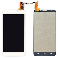 Дисплей (модуль) + тачскрин (сенсор) для Alcatel One Touch Idol X OT-6040 | 6040A | 6040D | 6040X (белый цвет)