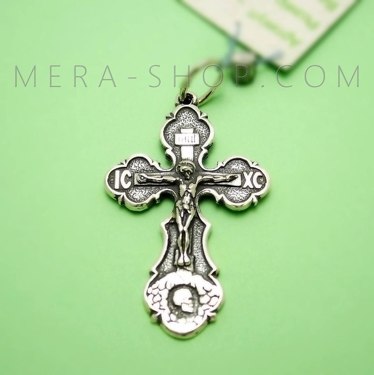 Крест нательный из серебра 925 пробы