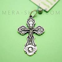 Крест нательный из серебра (кр-12)