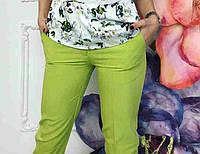 Брюки  женские Дудочка зелёные