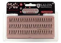Пучковые ресницы Salon Professional, LONG BLACK, длинные