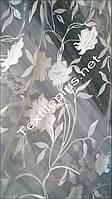 Тюль с белыми цветами