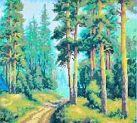 "Набор для творчества со стразами ""Утро в лесу"" 41*52 Артикул: 198672"