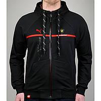 Спортивная мужская кофта PUMA FERRARI 20655 черный