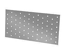 Монтажная крепежная пластина перфорированная 120х240х2. ТМ Кольчуга (Kolchuga)