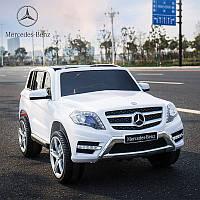 Лицензионный детский электромобиль Mercedes GLK 350 (мини копия) белый с Ева колесами ***