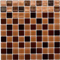 Мозаика облицовочная стеклянная коричневая