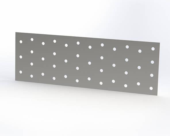 Пластина монтажная (крепежная) перфорированная 100х240х2. ТМ Кольчуга (Kolchuga), фото 2