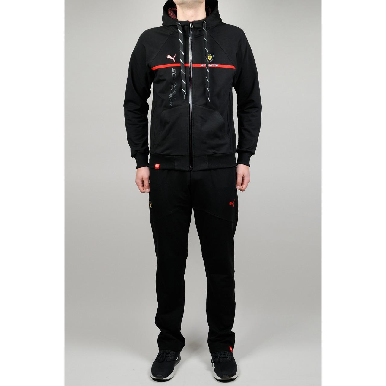 36d1216cff7a Спортивный костюм мужской PUMA FERRARI 20662 черный - купить по ...