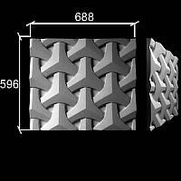 """3-D панели из гипса """"Рубикон"""""""