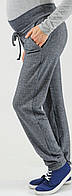 Спортивные штаны для беременных Сити серо-синий меланж