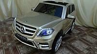 Лицензионный детский электромобиль Mercedes GLK 350 (мини копия) шампань в автопокраске с Ева колесами ****