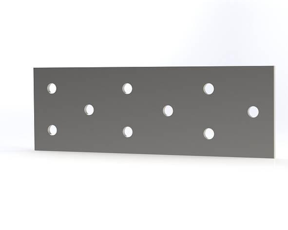 Пластина монтажная (крепежная) перфорированная 40х120х2. ТМ Кольчуга (Kolchuga), фото 2