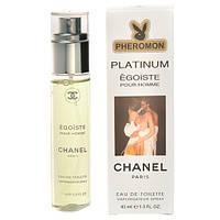 Мужской мини-парфюм с феромонами 45 мл Chanel Platinum Egoiste