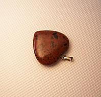 Кулон сердечко из красного обсидиана, фото 1