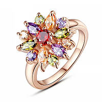 Кольцо позолоченное ювелирная бижутерия 534